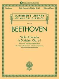 Beethoven: Violin Concerto in D Major, Op. 61 (Violin & Piano)