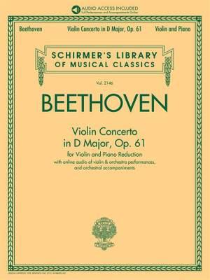 Ludwig van Beethoven: Violin Concerto in D Major, Op. 61 Product Image