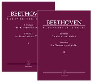 Beethoven, Ludwig van: Complete Sonatas for Pianoforte and Violin (Volumes I & II) Product Image