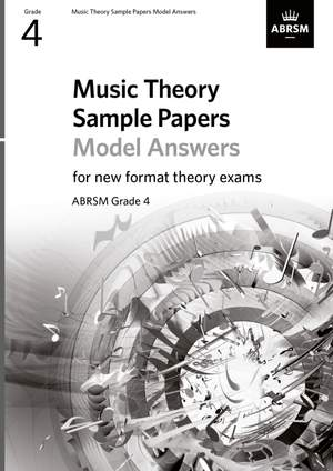 ABRSM: Music Theory Sample Papers Model Answers, ABRSM Grade 4 Product Image