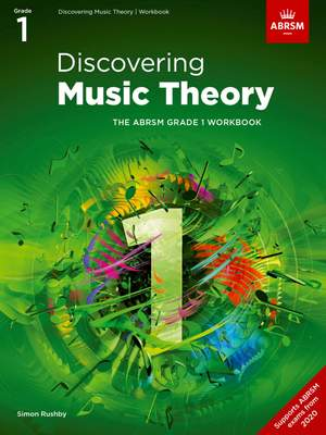 ABRSM: Discovering Music Theory, The ABRSM Grade 1 Workbook Product Image
