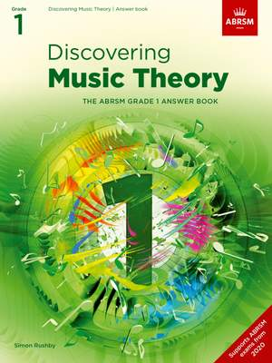 ABRSM: Discovering Music Theory, The ABRSM Grade 1 Answer Book