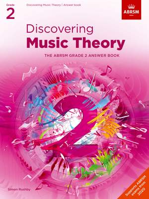 ABRSM: Discovering Music Theory, The ABRSM Grade 2 Answer Book