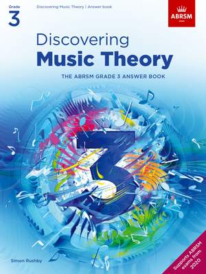 ABRSM: Discovering Music Theory, The ABRSM Grade 3 Answer Book