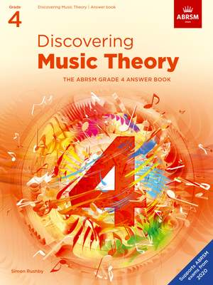 ABRSM: Discovering Music Theory, The ABRSM Grade 4 Answer Book