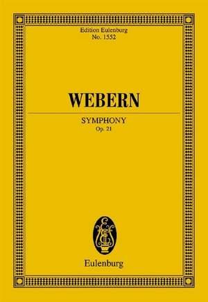 Webern, A: Symphony op. 21