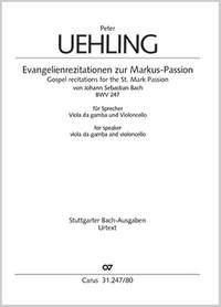 Bach, JS: Gospel recitations for the St. Mark Passion