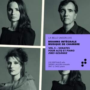 Brahms: Sonates pour alto et piano, Zwei Gesänge (Intégrale musique de chambre), Vol. 5