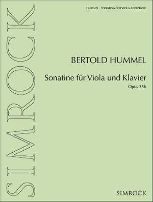 Hummel, B: Sonatina for viola and piano op. 35b