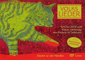 Volkslieder for choir SATB and piano duet