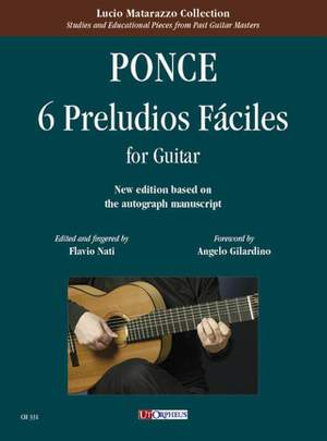 Manuel Maria Ponce: 6 Preludios Fáciles per Chitarra