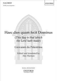 Palestrina, Giovanni da: Haec dies quam fecit Dominus