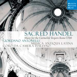 Sacred Handel - Music for the Carmelite Vespers Product Image