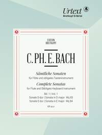 Bach, CPE: Complete Sonatas for Flute and Obbligato Keyboard Instrument Volume 1
