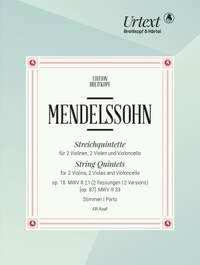 Mendelssohn: String Quintets (Set of Parts)