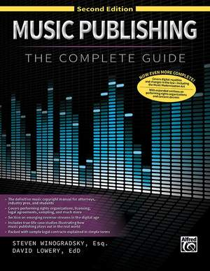 Steve Winogradsky_David Lowery: Music Publishing: The Complete Guide (2nd Ed.) Product Image
