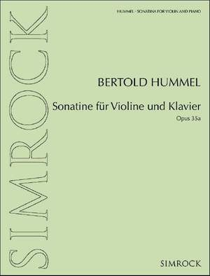 Hummel, B: Sonatina for violin and piano op. 35a