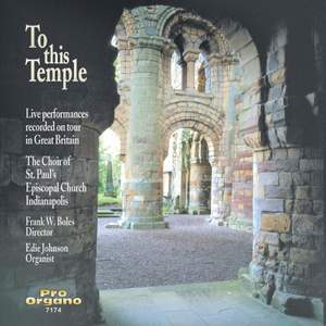 To This Temple (Live)
