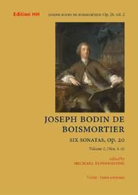 Boismortier, J B d: Six Sonatas Op. 20   Vol. 2