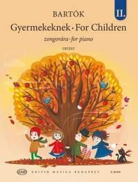 Bartok, Bela: For Children Vol.2 (piano)