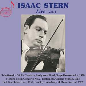 Isaac Stern Live Vol. 1 Product Image
