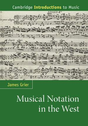 Musical Notation in the West Product Image