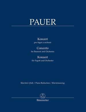 Pauer, Jirí: Concerto for Bassoon and Orchestra