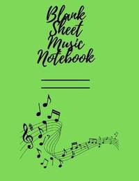Blank Sheet Music: This music sheet is perfect for songs on the piano, guitar, violin, and other instruments.