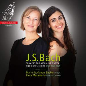 J S Bach: Sonatas For Viola and Harpsichord Bwv 1027-1029 Product Image