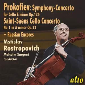 Rostropovich plays Cello Concertos & Russian Encores