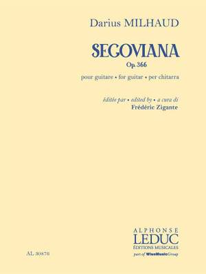 Darius Milhaud: Segoviana op. 366 Product Image
