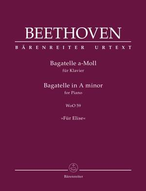 """Beethoven, Ludwig van: Bagatelle for Piano in A minor WoO 59 """"Für Elise"""" Product Image"""