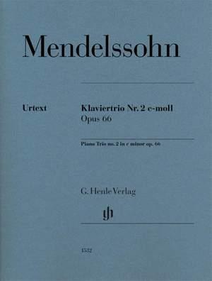 Mendelssohn Bartholdy, F: Klaviertrio Nr. 2 c-moll op. 66 Product Image