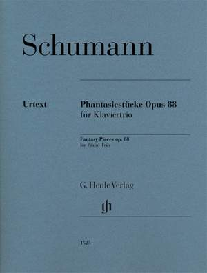 Schumann: Fantasy Pieces op. 88 for Piano Trio Product Image