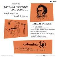 Joseph Szigeti Plays Schubert, Corelli, Debussy, Lalo, Tchaikovsky & Bach