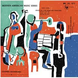 Cowell: Violin Sonata No. 1 & How Old is Song - Shapero: Sonata for Piano 4 Hands