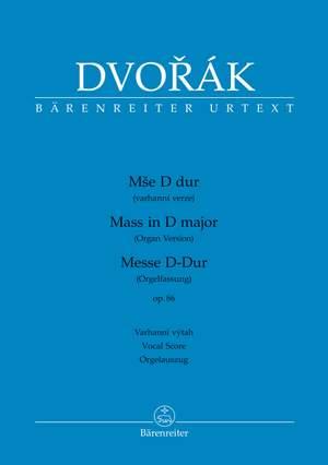 Dvorák, Antonín: Mass in D major op. 86 (Organ version) Product Image