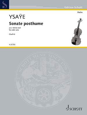 Ysaÿe, E: Sonate posthume op.27bis Product Image