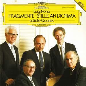 Luigi Nono: Fragmente - Stille, An Diotima