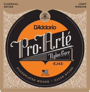 D'Addario EJ43 Pro-Arte Nylon Classical Guitar Strings, Light Tension Product Image