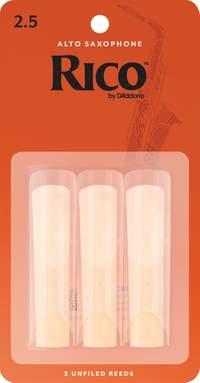 Rico by D'Addario Alto Sax Reeds, Strength 2.5, 3-pack
