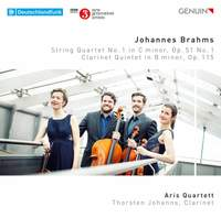 Johannes Brahms: String Quartet No. 1 & Clarinet Quintet, Op. 115