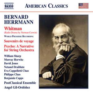 Herrmann: Whitman, Souvenirs de voyage & Psycho - A Narrative for String Orchestra Product Image