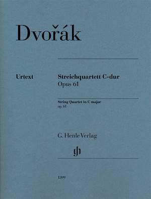 Dvořák: String Quartet No. 11 in C major, Op. 61 Product Image