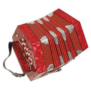 Concertina 40 Reeds, Red Pearl Finish