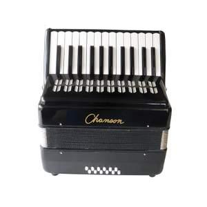 Chanson Piano Accordion 12 Bass Black