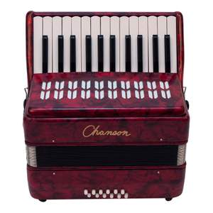 Chanson Piano Accordion 12 Bass Red
