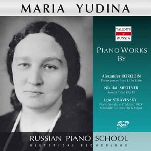 Borodin, Medtner & Stravinsky: Piano Works