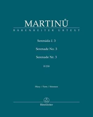 Martinů, Bohuslav: Serenade No. 3 H218