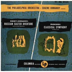 Prokofiev: Classical Symphony in D Major, Op. 25 - Rimsky-Korsakov: Russian Easter Festival, Op. 36